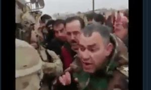 Tentara Suriah dan Warga Qamsihli Cekcok dengan Tentara AS