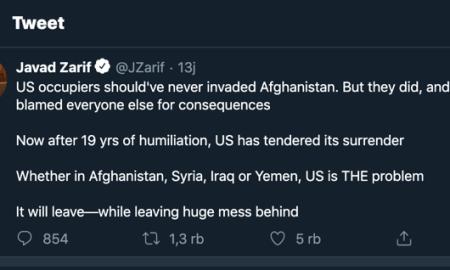Cuitan Pedas Zarif: AS Tinggalkan Afghanistan Setelah 2 Dekade Dipermalukan