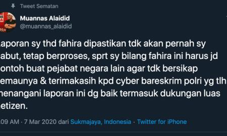 """Muannas Aidid Tak Akan Cabut Laporan """"Hoaks Virus Corona"""" Fahira Idris"""