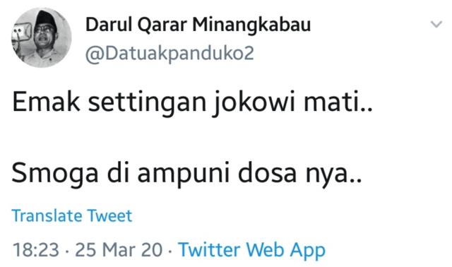 Kurang Ajar, Inilah Akun-akun Twitter yang Hina Jokowi dan Ibunya