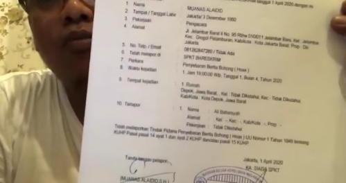 Muanas Alaidid Resmi Polisikan Ali Baharsyah