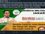 "Cuitan ""Busuk"" Rektor Ibnu Chaldun Musni Umar Soal Info Kematian di DKI"