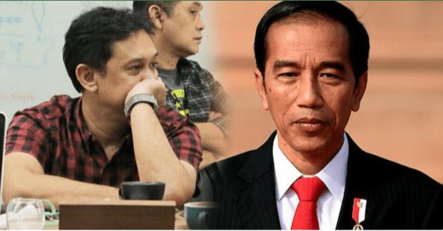 Foto Jokowi dan Denny Siregar