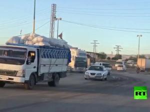 40 Truk Bawa Bahan Material ke Pangkalan Baru AS di Suriah