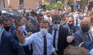 Kunjungan dan Aksi Sok Macron di Lebanon Banjir Kecaman di Twitter