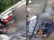 Kebakaran Disertai Ledakan Beruntun Gudang Salon di Houston, Satu Truk Damkar Ikut Terbakar