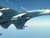 Manuver Jet Tempur Rusia Bayangi Pembom B-52 AS