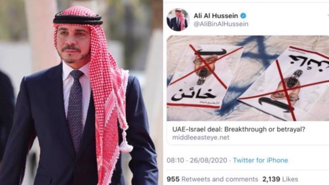 Pangeran Yordania Unggah Postingan Kecam Normalisasi UEA-Israel