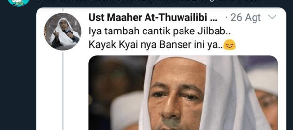 Rekam Jejak Digital Maheer Ath-Thuwailibi Hina Gus Dur Hingga Qurais Shihab