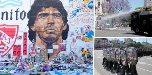 Argentina Berduka, Luapan Massa Iringi Pemakaman Maradona