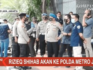 Video Habib Rizieq Shihab Datangi Polda Metro Jaya