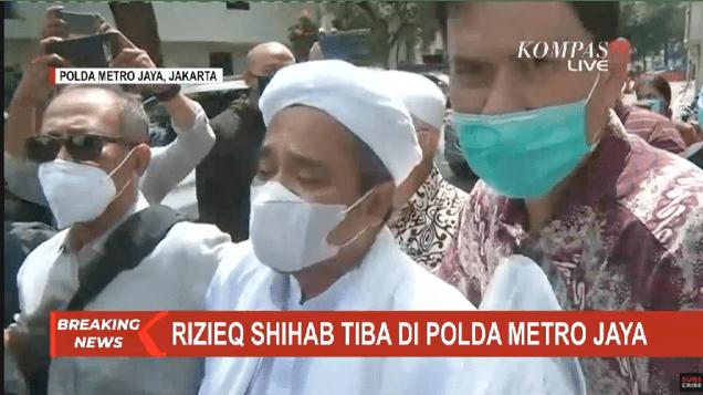 Pukul 10.30 Habib Rizieq Shihab Tiba di Polda Metro Jaya