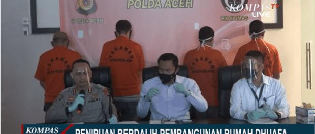 Polda Aceh Bongkar Kasus Penipuan Pembangunan Rumah Dhuafa