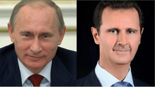 Sambut Tahun Baru, Putin dan Assad Saling Tukar Surat