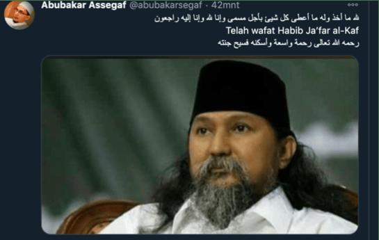 Waliyullah Habib Jakfar Al-Kaf Dikabarkan Meninggal Dunia