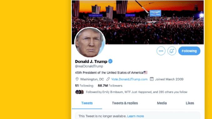 Twitter, Facebook Blokir Akun Trump Pasca Serbuan ke Gedung Capitol