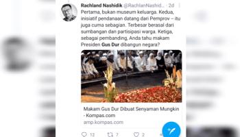 Tuding Makam Gus Dur Dibiayai Negara, Rachland Nashidik Banjir Kecaman