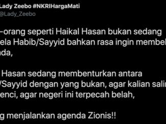 Tiru Zionis Cara Haikal Hassan Adu Domba Habaib