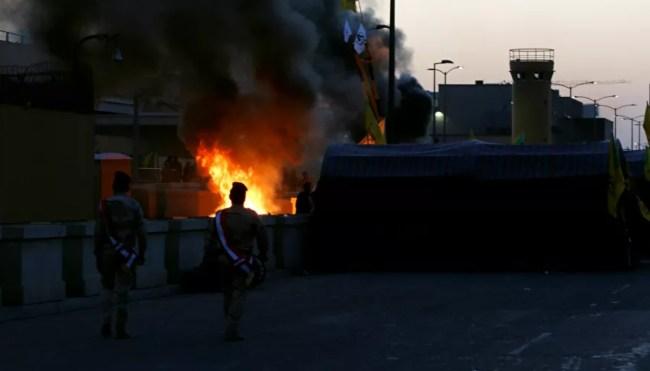 """3 Roket """"Katyusha"""" Hujani Pangkalan Militer AS di Baghdad"""