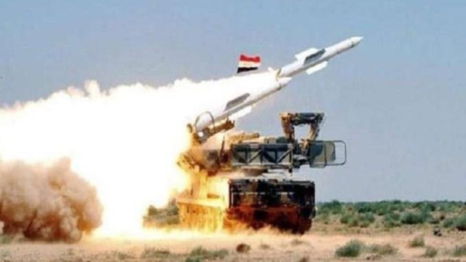 Pertahanan Rudal Suriah Tembak Jatuh Rudal-rudal Israel