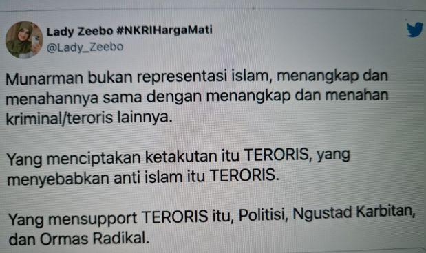 """Netizen """"Semprot"""" MUI: Munarman Bukan Representasi Islam"""