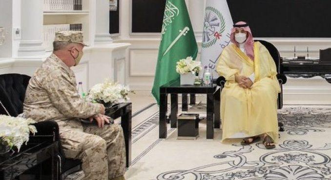 Menhan Saudi Terima Kunjungan Komandan CENTCOM AS