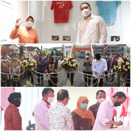 Risma Ikut 3 Acara Seremonial Peresmian di Surabaya