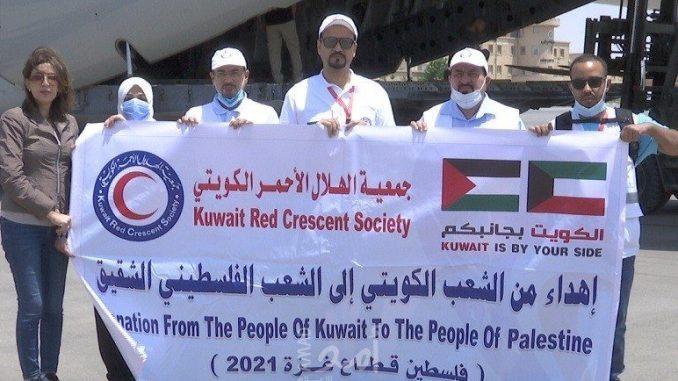 40 Ton Bantuan Palang Merah Kuwait Tiba di Jalur Gaza
