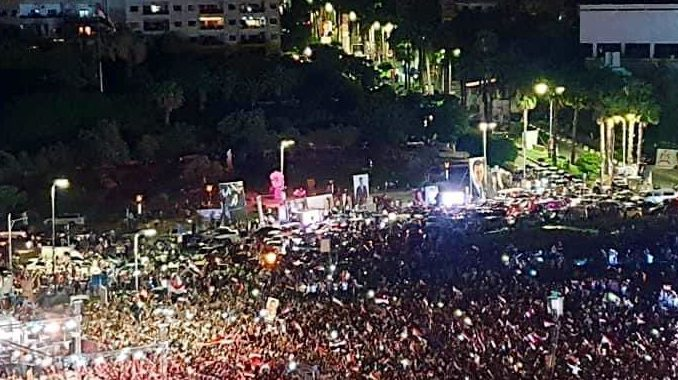 Euforia Rakyat Suriah Rayakan Kemenangan Bashar Assad
