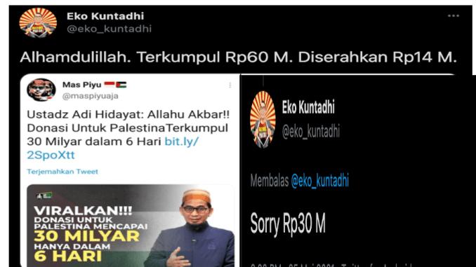 Perseteruan Eko Kuntadhi Vs Ustadz Adi Hidayat Memanas, Republika Sebar Fitnah