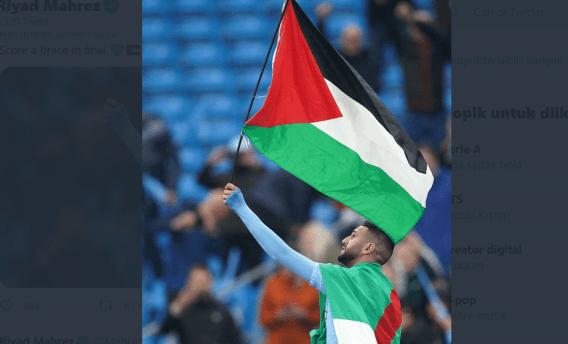 Pemain Manchester City Kibarkan Bendera Palestina Pasca Juarai Liga Inggris