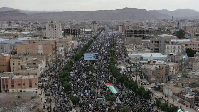 Demo Besar-besaran di Seluruh Yaman Dukung Pembebasan Palestina