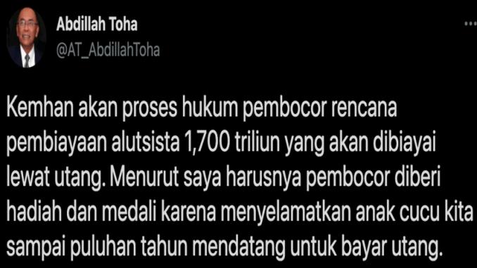 Sindiran Pedas Mantan Pendiri PAN ke Jubir Prabowo: Pembocor Harusnya Diberi Medali