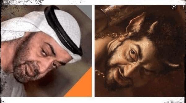 GEMPAR! Pelukis Italia Gambarkan Iblis Mirip Putra Mahkota UEA