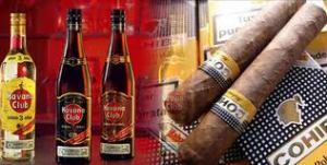 Cuba tabaco y ron