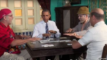 obama juega al domino con Panfilo