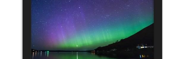 Newton Shore Northern Lights – Lochranza