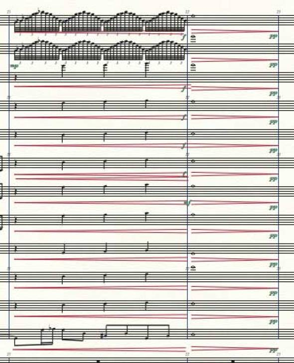 Screenshot of a Finale score