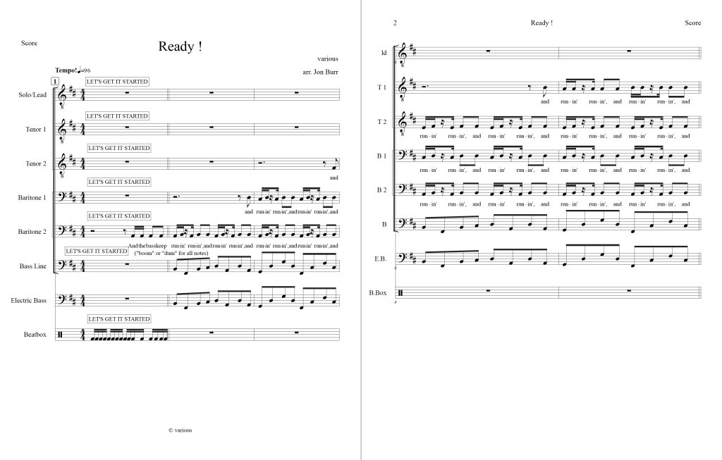 Choral Arrangement Sample