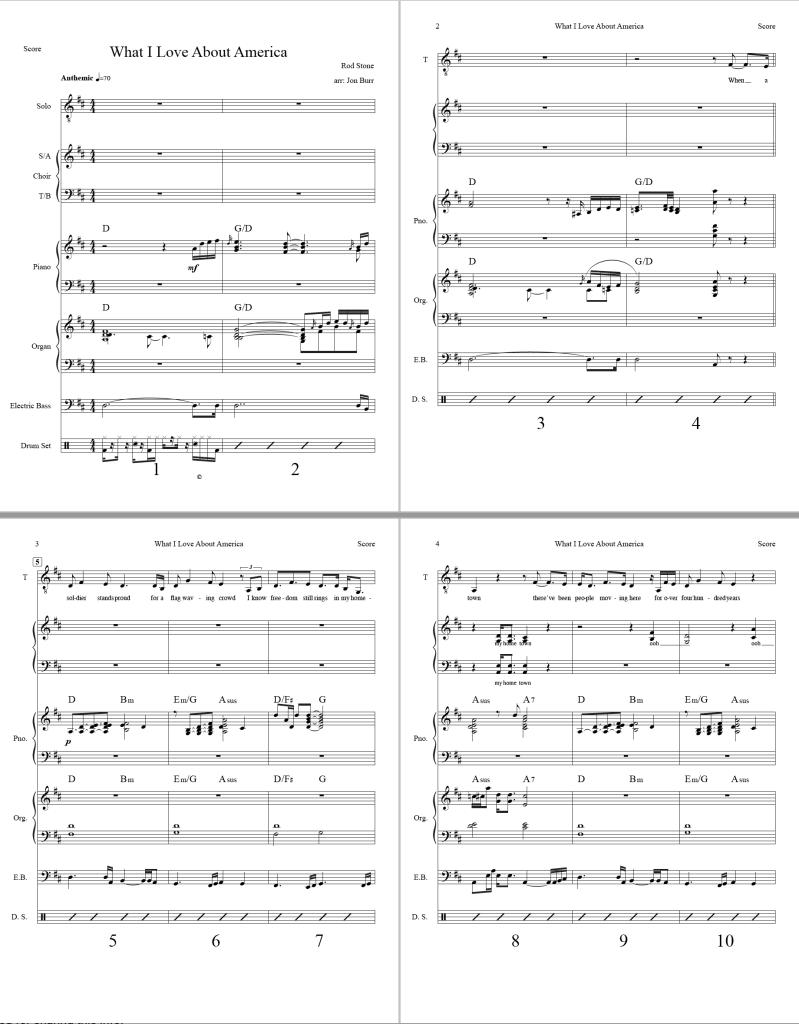 What I Love About America - Full Score, Screenshot