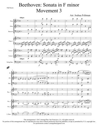 Beethoven Sonata in F minor