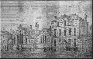 An etching of 10 Mill Street published in The Irish Builder (1871). Credit – Clanbrassil Street 2, Sean Lynch.