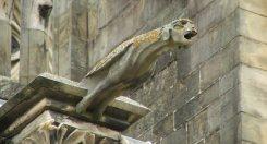 Gárgola en la Catedral de Bayonne