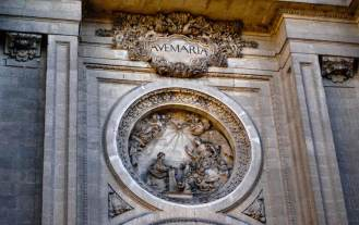 Fachada de la catedral, detalle