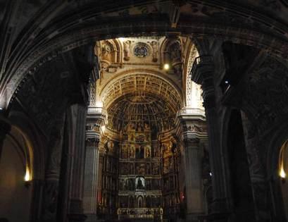 Altar mayor de la iglesia del Monasterio de San Jerónimo