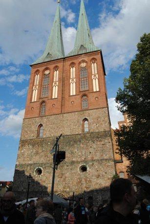 Vista de la fachada de la Iglesia de San Nicolás