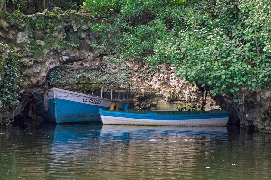 Barcas en el estanque del Parque de Campo GRande
