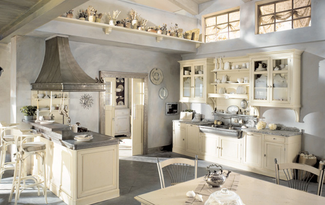 Cucine rustiche in stile shabby chic 30 modelli da sogno for Cucine shabby