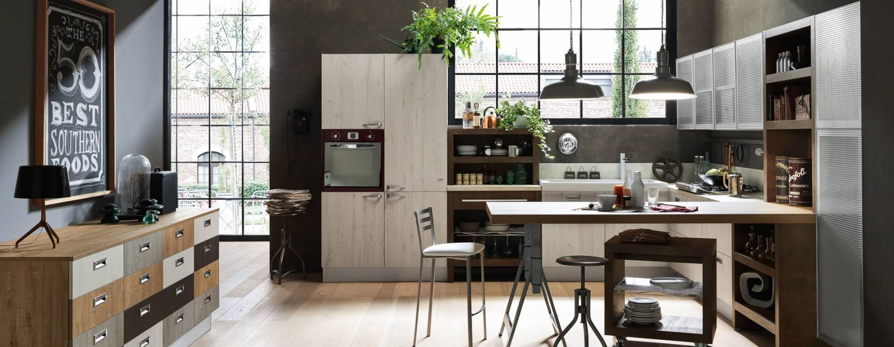 Le cucine in stile provenzale e industrial chic: Febal 2015