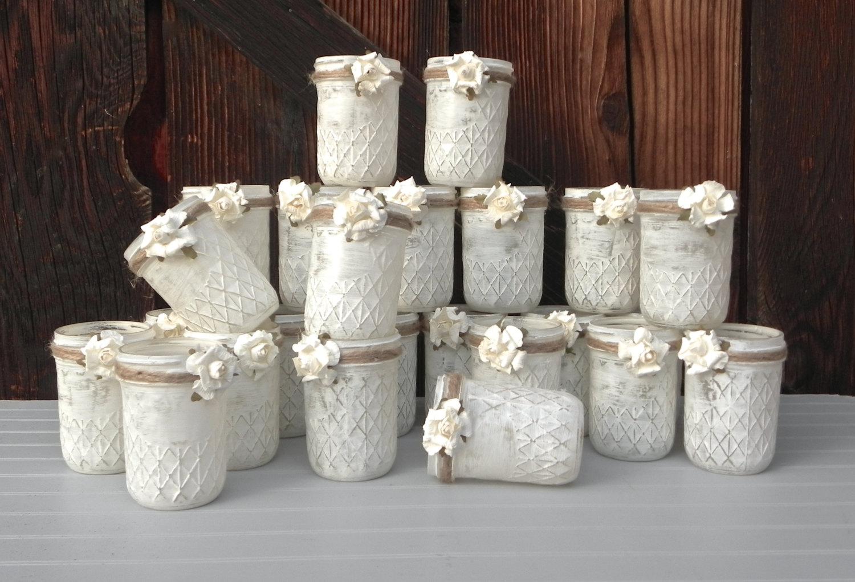 Come decorare barattoli di vetro con vernice effetto shabby - Vasi decorati fai da te ...